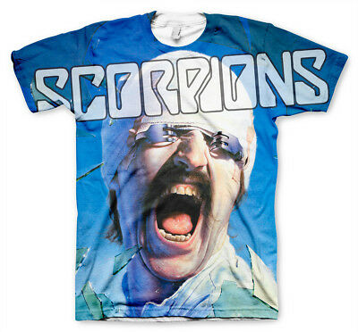 Officially Licensed Scorpions Allover T-Shirt S-XXL Sizes
