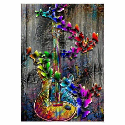 Coloful Guitar 5D Diamond Painting Embroidery Cross Stitch Wall Decor Opulent