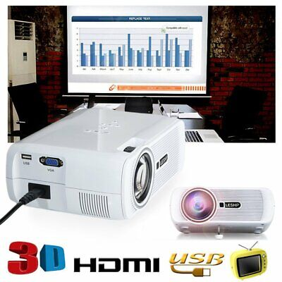 4K 3D Android 1080P LED Projector Home Theater 2000Lumen Cinema HDMI 8GB
