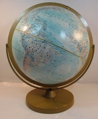 Vintage Replogle World Nation Series Double Axis 12 Inch Globe On Metal Base Vnc