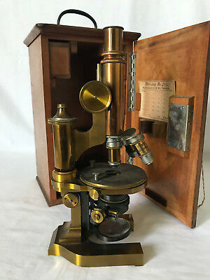 "1891 ERNST LEITZ WETZLAR No.23467 MICROSCOPE ALL BRASS ""TIME CAPSULE"" LOW PRICE"