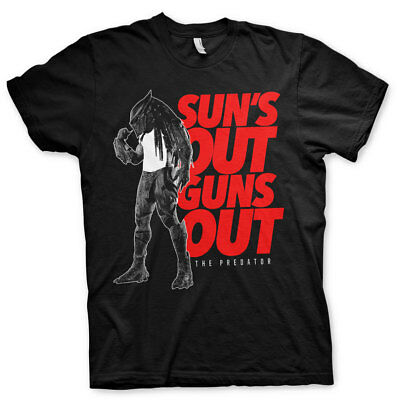 Officially Licensed Predator - Sun's Out - Guns Out Men's T-Shirt S-XXL Sizes