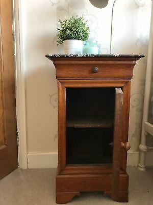 19C Marble Top Pot Cupboard