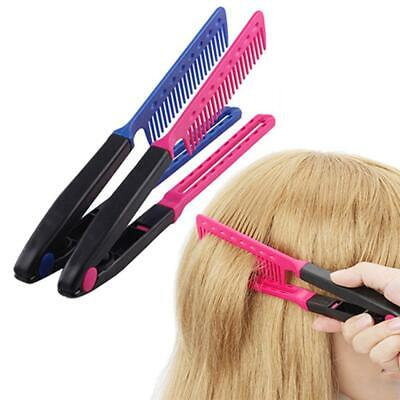 Long Handle Professional Hairdressing Hair Straightener V-Shaped Comb 9G67