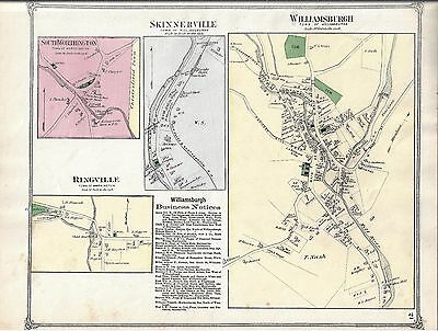 1873 Williamsburg Village, Ma. Map That Has Been Removed From The  1873 Atlas