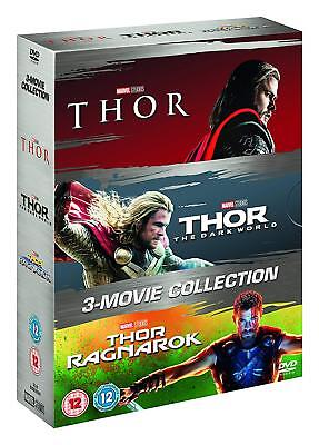 THOR 1-3 MOVIE COLLECTION THOR THE DARK WORLD DVD Brand New Sealed Fast Postage