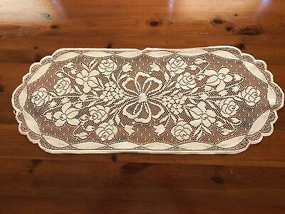 Five Piece Lace Croche Table Runner And Mats!