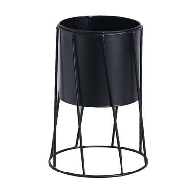 Blesiya Flower Stand Plant Stand Rack Flowerpot Desktop/Ground Decor Black_B