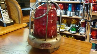 "NICE Condition Rare Vintage Portable CARPENTER Fire Truck ""Beehive"" Glass Light"