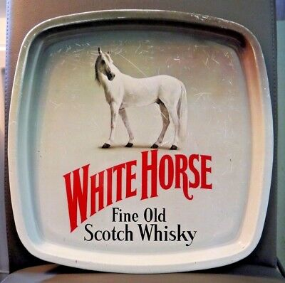 White Horse Scotch Whisky Werbe-Metall-Tablett 30x30