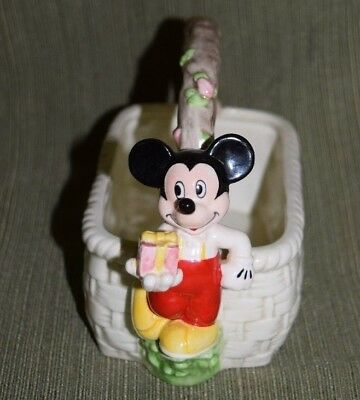 The Good Company Applause Mickey Mouse Disney Christmas Ceramic Candy Dish