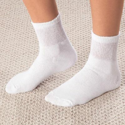 MENS DR. SCHOLLS DIABETES CIRCULATORY TempRITE WHITE ANKLE SOCKS 13-15 ONE PAIR