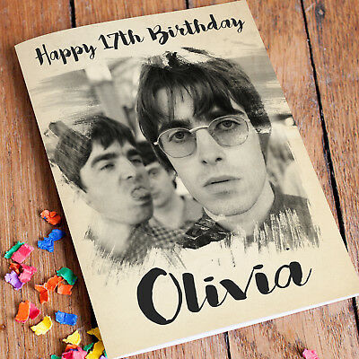 Oasis Personalised Birthday Card FREE Shipping