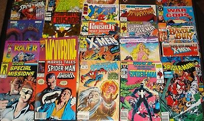 Lot of 25 Comics -Spider man, Breed,X men,Wolverine,What if ,etc  (c)