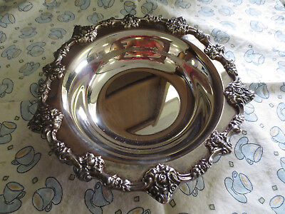 "Antique Ornate Rose ELOQUENCE LUNT Hollow Plate Candy Dish 6"" Bowl Marked E-27"