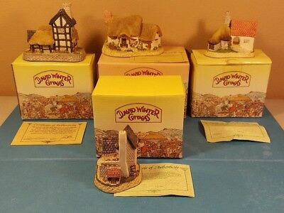 DAVID WINTER COTTAGES - Boxes and COA - Pottery, Cartwright, Cobbler, Rose