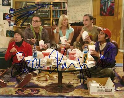 Bang Theory Cast    8 By 10 Inch Full Gloss Signed Picture  C.o.a.