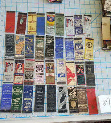 VTG MATCHBOOK COVERS. 36 DIFF. TAVERN BAR Matchbook covers