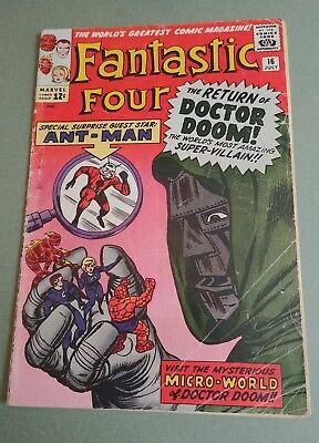 Fantastic Four #16 -   3.5   - MARVEL 1963 - 1st Ant-Man x-over, Wasp cameo!!