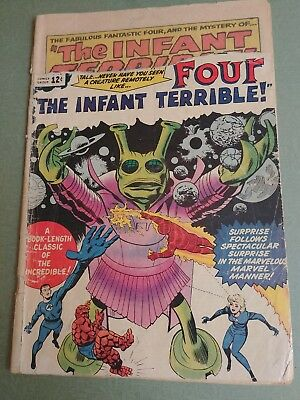 Fantastic Four #24 (1964 Marvel) Infant Terrible appearance Silver Age 1.0