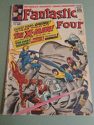Fantastic Four #28 - early X-Men crossover Uncanny Marvel  3.0