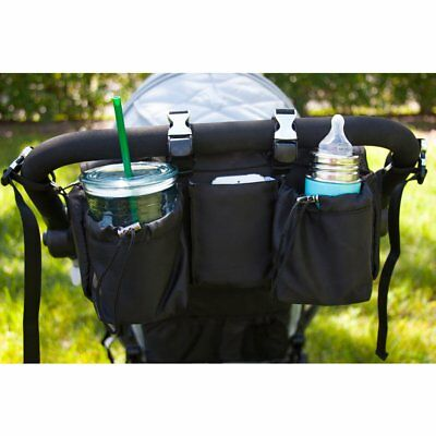 BUGGYGEAR- Premium Organizer & Cooler: Sport Collection JET BLACK BTLRSBLK