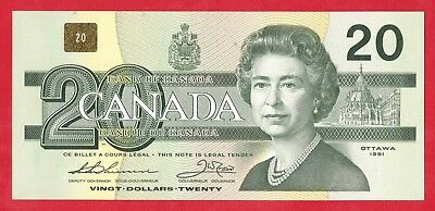 ✪ 1991 $20 Bank of Canada Note EIX With Serifs 2384811  - Ch UNC