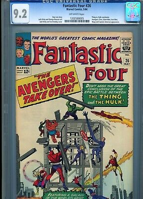 Fantastic Four 26 CGC 9.2 OFF WHITE Pages Thing VS Hulk Avengers older slab 9.4?
