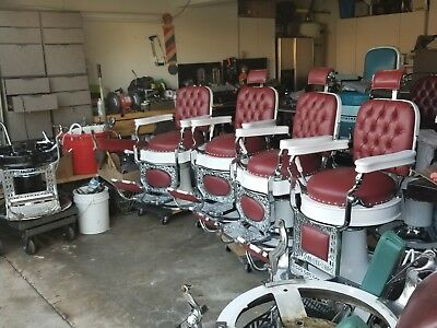 Antique Theo A. Koch Barber Chairs