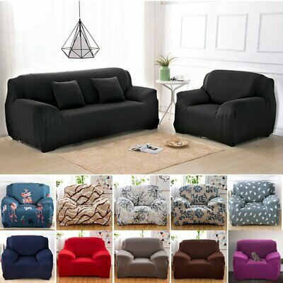Stretch 1 2 3 4 Seater Sofa Cover Couch Removable Anti-Slip Slipcover Protector