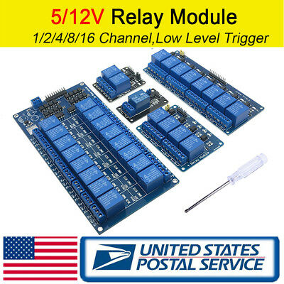 1/2/4/8/16 Channel Relay Module Boards Optocoupler Arduino ARM AVR DSP PIC PLC