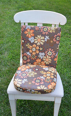 2 Sets Vintage Dinette Replacement Seat And Back, Very Groovy