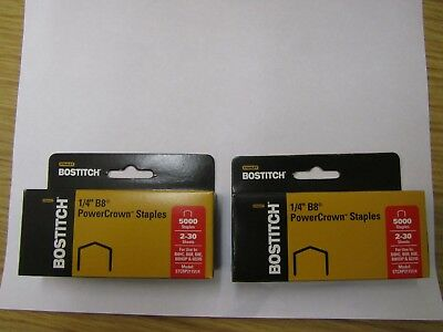 "Two BOSTITCH 1/4"" B8 Power Crown Staples STCRP21151/4 ,B8HC B8R, B8E B8HDP 02245"