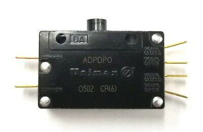 NEW Unimax Type DA, ADPD DPDT ON - (ON) Snap Action Switch 15A @ 125VAC ~ 250VAC