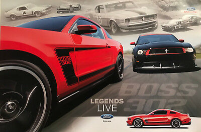 2012 Boss 302 Mustang 2-Sided Poster