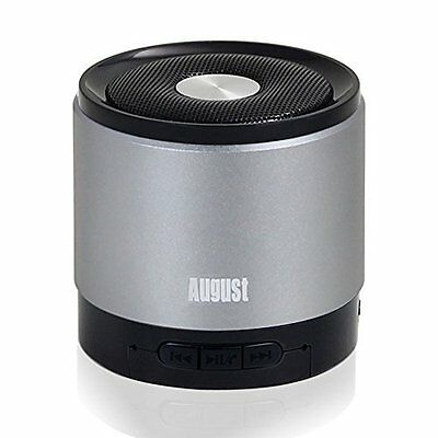 August MS425 Portable Bluetooth Wireless Speaker with Microphone - Color Choices