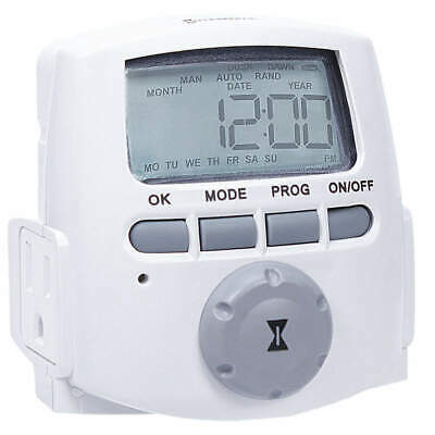 INTERMATIC Timer,Digital,120V,15A,Plug In, DT620, White