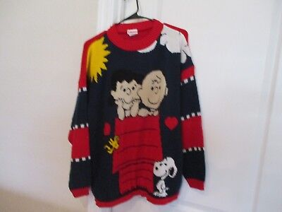 Vintage Peanuts 70s Ugly Christmas Sweater Charlie Brown Lucy