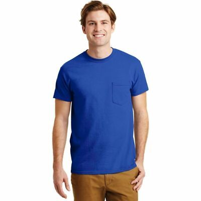 Gildan Pocketed T-Shirt Mens DryBlend Tee Moisture Wicking Blank Plain Tee 8300