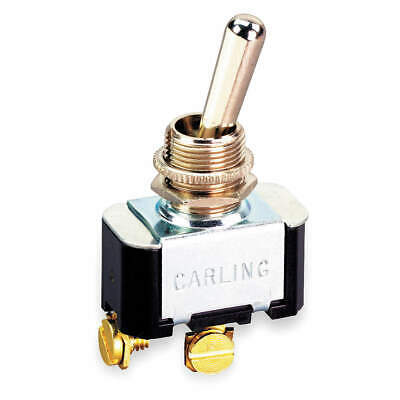 CARLING TECHNOLOGIES Toggle Switch,SPST,10A @ 250V,Screw, 6FA54-73