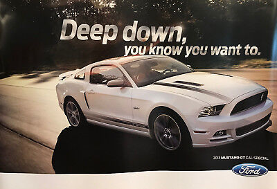 2013 GT/CS MUSTANG POSTER - Deep down, you know you want to.