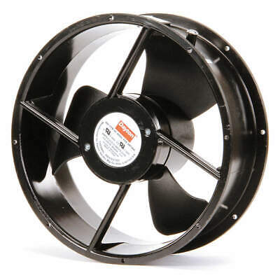 DAYTON Axial Fan,Round,665/600 CFM, 4WT44, Black