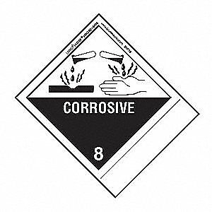 LABELMASTER Corrosive Label,100mmx120mm,Paper,500, SNT13