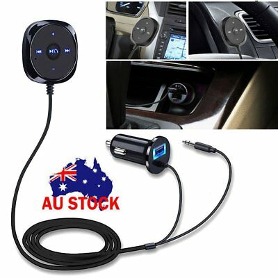 Stereo Bluetooth Receiver 3.5mm Car Kit Wireless LCD Handsfree MP3 USB Charger