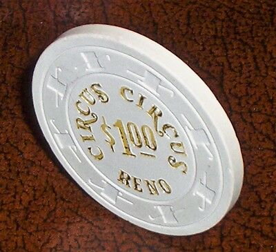 Old $1 CIRCUS CIRCUS Casino Poker Chip Vintage Antique H/C Mold Reno NV 1978