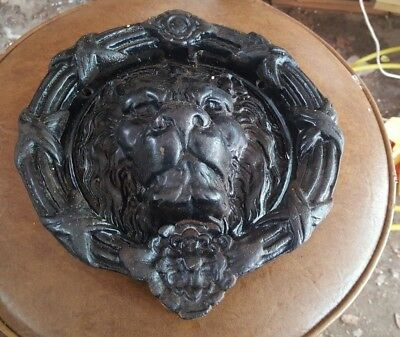 Vintage Gothic Castle Cast Iron Mgm Style Lion Head Mansion Door Knocker