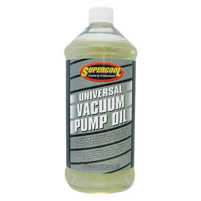 SUPERCOOL Vacuum Pump Oil,Yellow,1 qt., 37476, Yellow