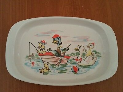 Vintage Noritake melamine ware children's plate Made in Japan