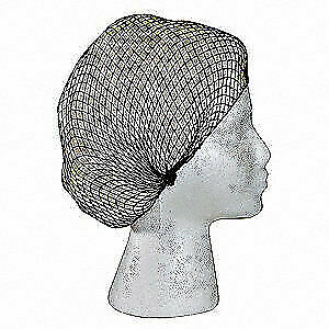"""HAIR NETS DRK//BRN FOOD SERVICE LAB MANUFACTURING DISPOSABLE NYLON 22/"""" *72//ct BAG"""