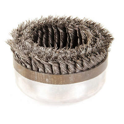 WEILER Knot Wire Cup Brush,Threaded Arbor,6 In., 94028